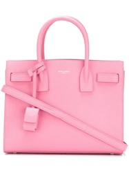 Saint Laurent Baby 'Sac De Jour' Tote Pink And Purple