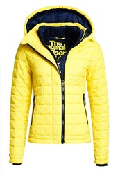 Superdry Hooded Box Quilt Fuji Jacket Yellow