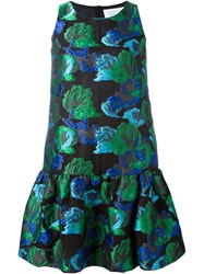 Gianluca Capannolo Floral Jacquard Dress Green