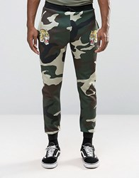 Jaded London Camo Souvenir Skinny Joggers Camo Green