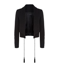 Elie Saab Embroidered Shawl Lapel Jacket Female Black