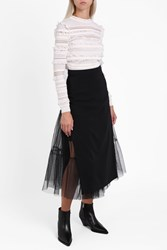 Preen By Thornton Bregazzi Women S Vila Tulle Skirt Boutique1 Black