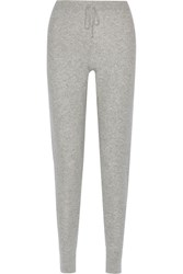Madeleine Thompson Reighton Cashmere Track Pants Gray
