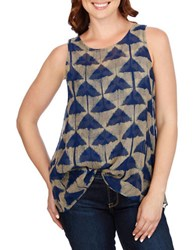 Lucky Brand Dyed Sleeveless Top Blue Multi