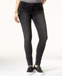 Rampage Juniors' Sophie Lace Up Super Skinny Jeans Black