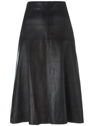 Forte Forte Midi Leather Skirt Black