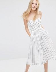 Greylin Nina Coulotte Jumpsuit White