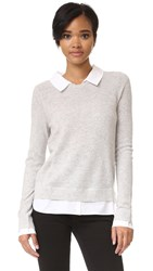 Joie Rika Sweater Lt Htr Grey Porcelain