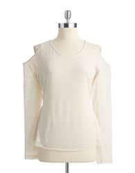 Buffalo David Bitton Long Sleeved Top With Sequin Detail Heather Butter