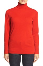 Women's Nordstrom Collection Cashmere Turtleneck Sweater Red Chinoise