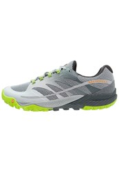 Merrell All Out Charge Trail Running Shoes Grey Lime Green Light Grey