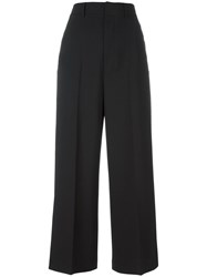Diesel Black Gold Cropped Palazzo Pants Black