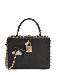 Dolce And Gabbana Pocket Watch Embossed Leather Bag
