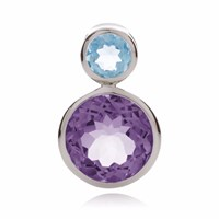 Manja Lana Amethyst And Blue Topaz Pendant Blue Pink Purple