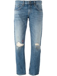 Rag And Bone Jean Distressed Jeans Blue