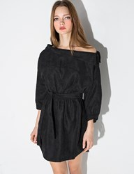 Pixie Market Black Off The Shoulder Shirt Dress