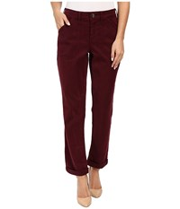 Nydj Reese Relaxed Jeans In Colored Chino Syrah Women's Jeans Purple