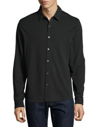 Michael Kors Long Sleeve Button Front Shirt Black