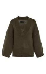 Nili Lotan Logan Cashmere Sweater Dark Green