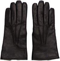 Christophe Lemaire Black Lambskin Gloves