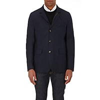 Luciano Barbera Men's Tech Twill Jacket Navy