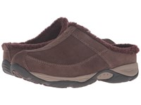 Easy Spirit Exchange Medium Brown Dark Purple Suede Women's Shoes