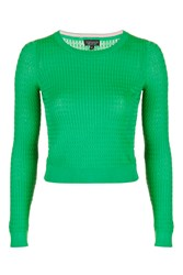 Topshop Modern Mini Cable Top Green