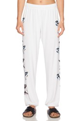 Lauren Moshi White Tiger Tanzy Sweatpant