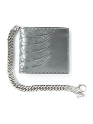 Alexander Mcqueen Claw Embossed Chain Wallet Grey