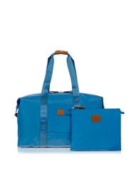 Bric's X Bag Medium Foldable Last Minute Holdall In A Pouch Cornflower