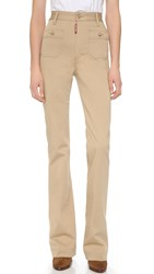 Dsquared High Waisted Pants Camel
