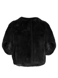 Diane Von Furstenberg Kim Fur Jacket Dark Grey