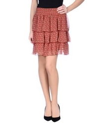 Naf Naf Mini Skirts Brick Red