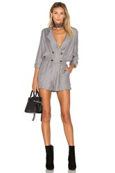 Greylin Ria Shirt Wrap Over Romper Gray