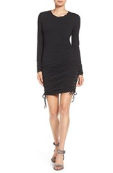 Pam And Gela Women's Lace Up Body Con Dress