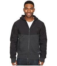 O'neill Quadra Quilted Hoodie Black Men's Sweatshirt