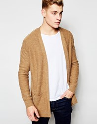 New Look Fluffy Cardigan In Camel