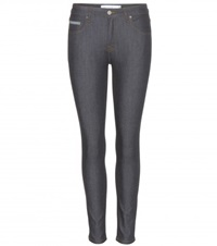 Victoria Beckham Ankle Slim Cropped Skinny Jeans Blue