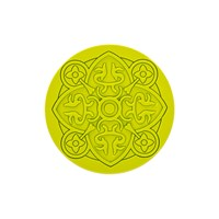 Images D'orient Round Urban 01 Coaster Anise