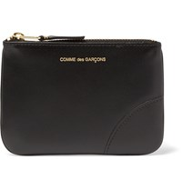 Comme Des Garcons Leather Coin Wallet Black