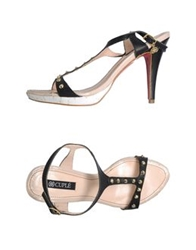 Cuple High Heeled Sandals Black