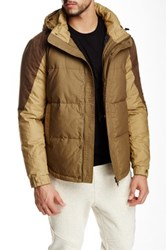 Shades Of Grey Colorblock Puffer Jacket Beige