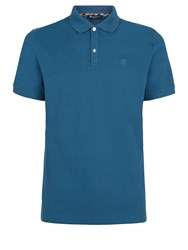 Aquascutum London Hill Club Check Polo Blue Surf