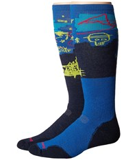 Smartwool Phd Slopestyle Medium Craigieburn Deep Navy Men's Knee High Socks Shoes