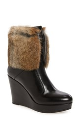 Rudsak Women's Baime Genuine Rabbit Fur Trim Bootie