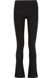 Maje Gloria Ribbed Knit Bootcut Pants Black