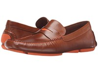 Donald J Pliner Vinco4 Saddle Men's Slip On Dress Shoes Brown