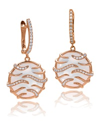 Luna Mini Mother Of Pearl And Diamond Medallion Earrings Frederic Sage