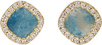 Monique Pean Women's Diamond Framed Gilalite Studs No Color