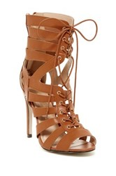 Chase And Chloe Elaine High Heel Gladiator Sandal Brown